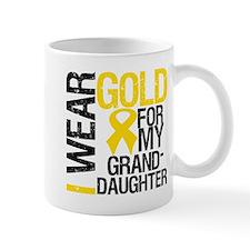 I Wear Gold Granddaughter Mug