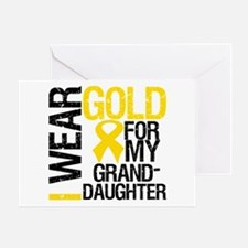 I Wear Gold Granddaughter Greeting Card