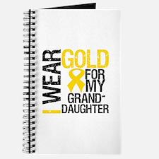 I Wear Gold Granddaughter Journal