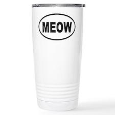 MEOW Cat Ceramic Travel Mug