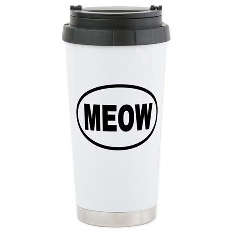 MEOW Cat Stainless Steel Travel Mug