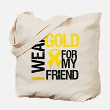 I Wear Gold For My Friend Tote Bag