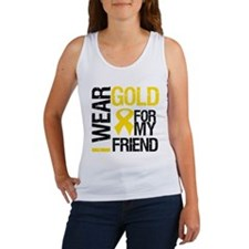 I Wear Gold For My Friend Women's Tank Top