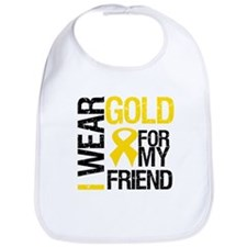 I Wear Gold For My Friend Bib