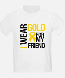 I Wear Gold For My Friend T-Shirt