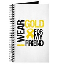 I Wear Gold For My Friend Journal