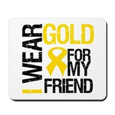 I Wear Gold For My Friend Mousepad
