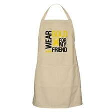 I Wear Gold For My Friend BBQ Apron