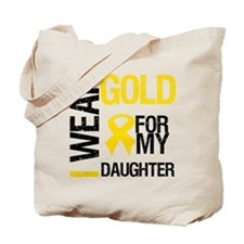 I Wear Gold For Daughter Tote Bag