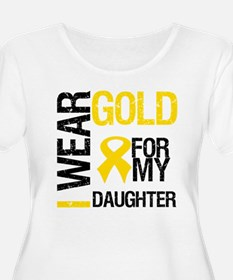 I Wear Gold For Daughter T-Shirt