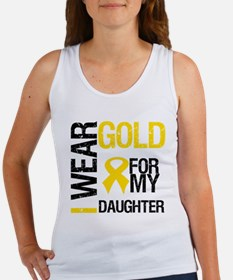 I Wear Gold For Daughter Women's Tank Top