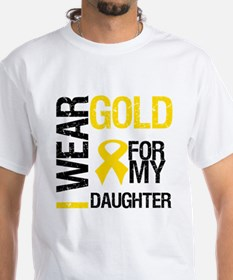 I Wear Gold For Daughter Shirt
