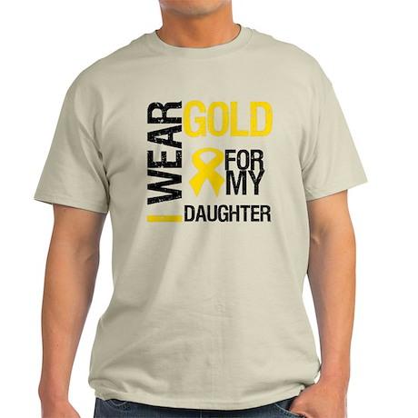 I Wear Gold For Daughter Light T-Shirt