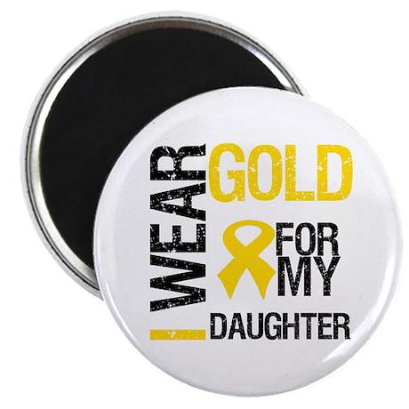 I Wear Gold For Daughter Magnet