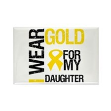 I Wear Gold For Daughter Rectangle Magnet