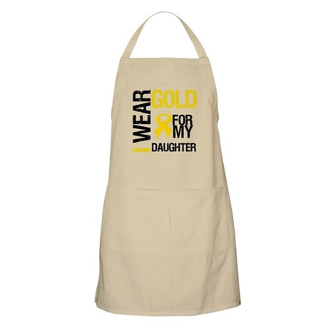 I Wear Gold For Daughter BBQ Apron