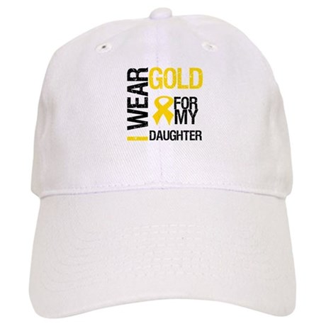 I Wear Gold For Daughter Cap