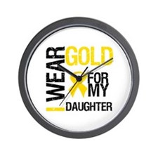 I Wear Gold For Daughter Wall Clock