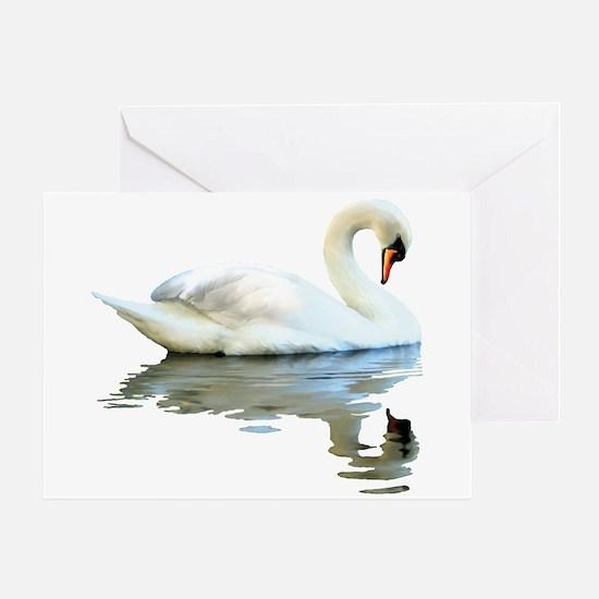 Swan Reflects Greeting Card