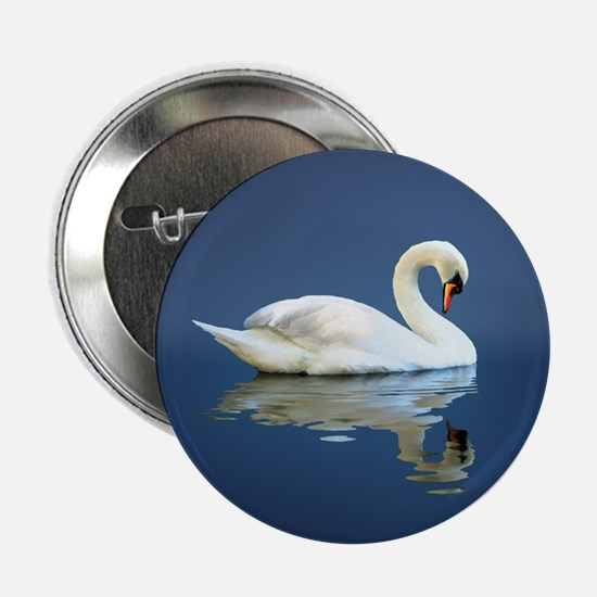 """Swan Reflects 2.25"""" Button"""