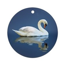 Swan Reflects Ornament (Round)