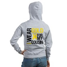 I Wear Gold For Cousin Zip Hoodie