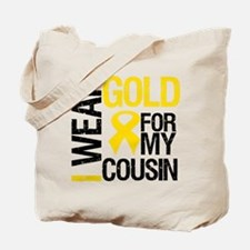 I Wear Gold For Cousin Tote Bag