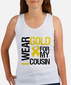 I Wear Gold For Cousin Women's Tank Top