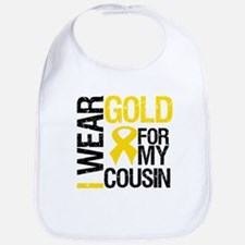 I Wear Gold For Cousin Bib