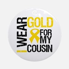 I Wear Gold For Cousin Ornament (Round)