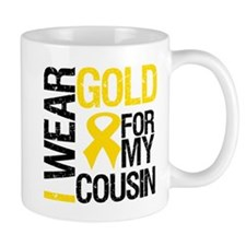 I Wear Gold For Cousin Mug