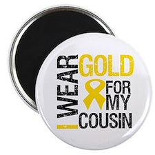 I Wear Gold For Cousin Magnet