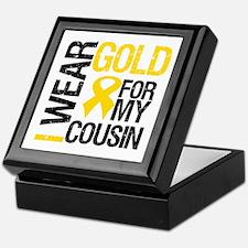 I Wear Gold For Cousin Keepsake Box