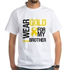 I Wear Gold For My Brother Shirt
