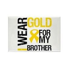 I Wear Gold For My Brother Rectangle Magnet