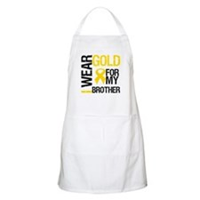 I Wear Gold For My Brother BBQ Apron