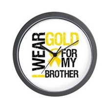 I Wear Gold For My Brother Wall Clock