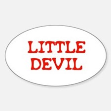Little Devil Oval Decal