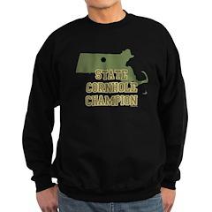 Massachusettes State Cornhole Sweatshirt (dark)