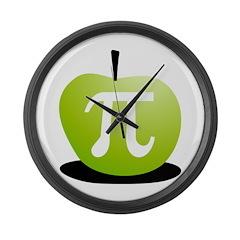 Apple Pi Large Wall Clock