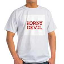 Horny Devil Ash Grey T-Shirt