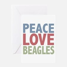 Peace Love Beagles Dog Owner Greeting Card