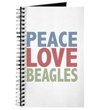 Peace Love Beagles Dog Owner Journal