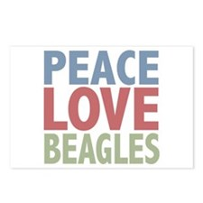 Peace Love Beagles Dog Owner Postcards (Package of