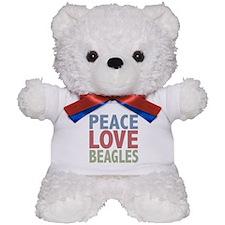 Peace Love Beagles Dog Owner Teddy Bear