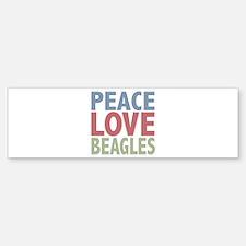 Peace Love Beagles Dog Owner Bumper Bumper Sticker