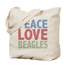 Peace Love Beagles Dog Owner Tote Bag
