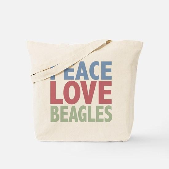 Peace Love Beagles Dog Owner Tote Bag