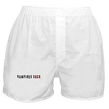 Vampires Suck Boxer Shorts