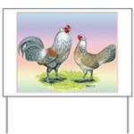 Ameraucana Chickens Pair Yard Sign
